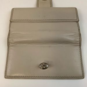 Coach Bags - Coach Womens Wallet Bifold Turnlock Off White